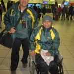 Delvian Samuels and his brother, Denzil.  The Players' Fund flew them to JHB in 2012 to watch the Springboks play the Wallabies at Loftus.